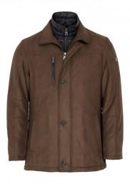 Bugatti - Microma Velour Coat - Brown