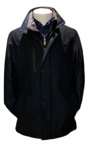 SOLD OUT - BUGATTI - MICROMA VELOUR COAT - NAVY
