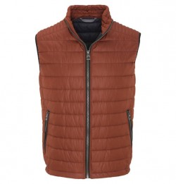 BUGATTI - QUILTED GILET - RUST