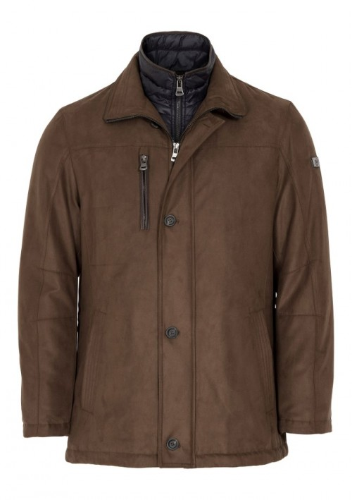 Bugatti - Microma Velour Coat - Brown