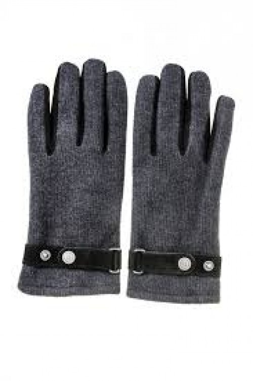 Gloves - Bugatti - Grey