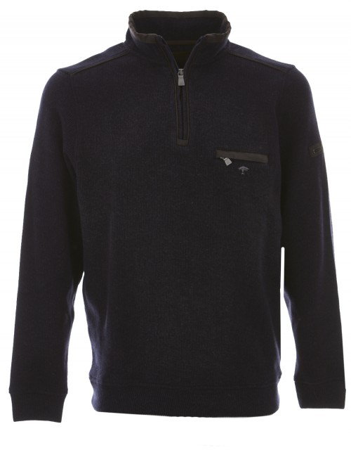 SOLD OUT - Fynch Hatton - Navy Zip Top 12183300 1633