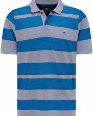 Fynch Hatton - 11211752-1688 Blue Grey Stripe Polo