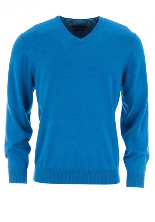 Casa Moda - V Neck Jumper - Blue
