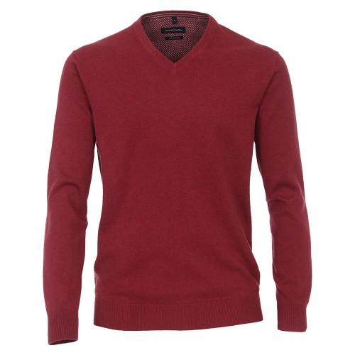 Casa Moda - V Neck Jumper - Red
