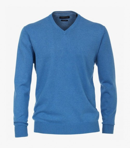 Casa Moda - Light Blue V Neck