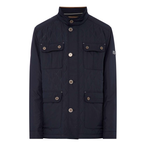 Bugatti - Navy Quilted Jacket