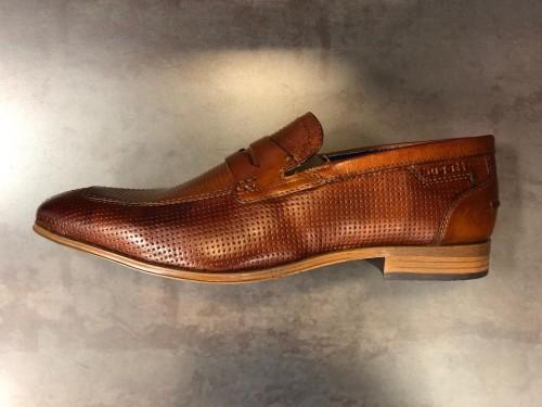 Bugatti - Leather Slip On - Cognac