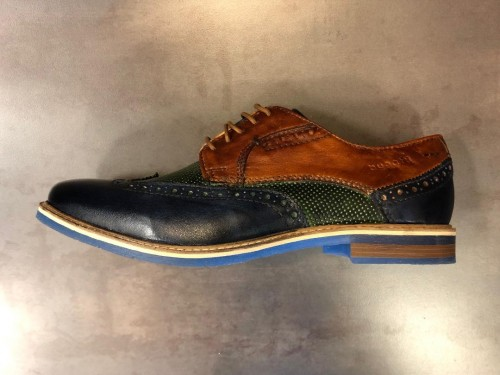 Bugatti - Navy Green Cognac - Brogue