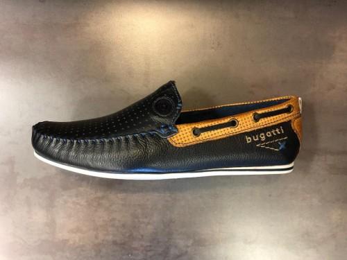 Bugatti - Navy Leather Slip On