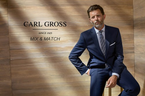 Carl Gross - Navy Pinstripe
