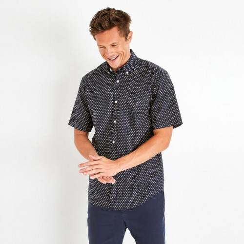 Eden Park - Navy Print Short Sleeve