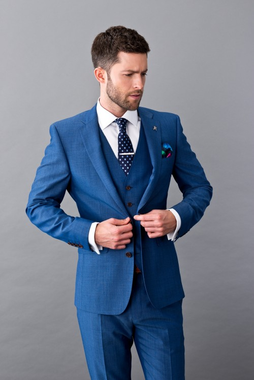Herbie Frogg - Blue 3 Piece - INCLUDES FREE SHIRT AND TIE