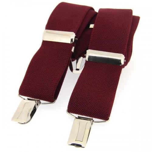 Braces - Wine - One Size Adjustable